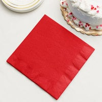 Classic Red 3-Ply Dinner Napkin, Paper - Creative Converting 591031B - 250/Case