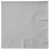 Creative Converting 573281B Shimmering Silver 3-Ply Beverage Napkin - 500/Case