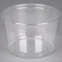 Choice 16 oz. Ultra Clear PET Plastic Round Deli Container - 500/Case