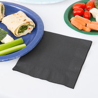 Creative Converting 139194135 Black Velvet 2-Ply 1/4 Fold Luncheon Napkin - 600/Case