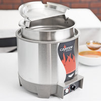 Vollrath 72018 Cayenne 7 Qt. Round Heat 'n Serve Rethermalizer / Warmer Package with Inset and Cover - 120V, 800W