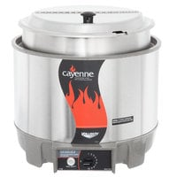 Vollrath 72009 Cayenne 11 Qt. Round Heat 'n Serve Rethermalizer / Warmer Package with Inset and Cover - 120V, 800W