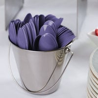 Creative Converting 010555B 6 1/8 inch Purple Heavy Weight Plastic Spoon - 600/Case
