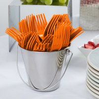 Creative Converting 010613B 7 1/8 inch Sunkissed Orange Disposable Plastic Fork - 600/Case
