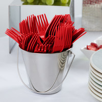 Creative Converting 010463B 7 1/8 inch Classic Red Disposable Plastic Fork - 600/Case