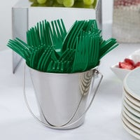 Creative Converting 010474B 7 1/8 inch Emerald Green Disposable Plastic Fork - 600/Case