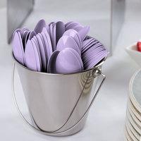 Creative Converting 10558 6 1/8 inch Luscious Lavender Purple Heavy Weight Plastic Spoon - 288/Case