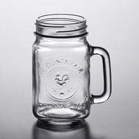 Acopa Rustic Charm 16 oz. County Fair Drinking Jar / Mason Jar with Handle - 12/Case