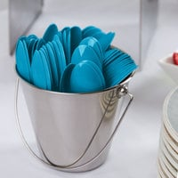 Creative Converting 011931B 6 1/8 inch Turquoise Blue Heavy Weight Plastic Spoon - 600/Case