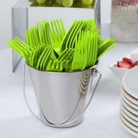 Creative Converting 011123B 7 1/8 inch Fresh Lime Green Disposable Plastic Fork - 600/Case