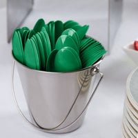 Creative Converting 010561B 6 1/8 inch Emerald Green Heavy Weight Plastic Spoon - 600/Case