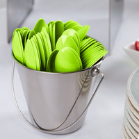 Creative Converting 011923B 6 1/8 inch Fresh Lime Green Heavy Weight Plastic Spoon - 600/Case