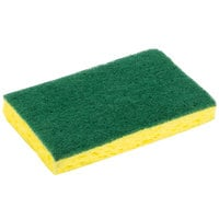 3M 74CC Scotch-Brite™ 6 1/8 inch x 3 5/8 inch Medium-Duty Scrub Sponge - 10/Pack