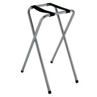 GET TSC-101 30 1/2 inch Folding Chrome Tray Stand