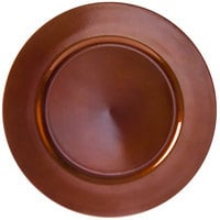 10 Strawberry Street LACPR-24 13 inch Lacquer Round Copper Charger Plate