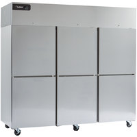 Delfield GCF3P-SH Coolscapes 83 inch Top-Mount Three Section Half Door Reach-In Freezer - 71 cu. ft.
