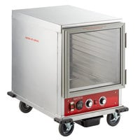 Avantco HPI-1812 Undercounter Half Size Insulated Heated Holding / Proofing Cabinet with Clear Door - 120V