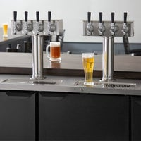 Beverage-Air DD78HC-1-B-144 (2) Four Tap Kegerator Beer Dispenser - Black, (4) 1/2 Keg Capacity