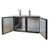 Beverage-Air DD58HC-1-B-016 (2) Double Tap Kegerator Beer Dispenser - Black, (3) 1/2 Keg Capacity