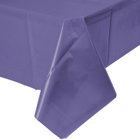 Creative Converting 01287B 54 inch x 108 inch Purple Disposable Plastic Table Cover