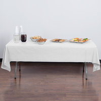Creative Converting 01255B 54 inch x 108 inch White Disposable Plastic Table Cover
