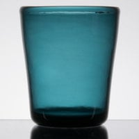 Carlisle MIN544015 Mingle 12 oz. Teal Tritan Plastic Double Rocks / Old Fashioned Glass - 12/Case