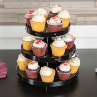 Wilton 1512-0860 3-Tier Black Disposable Cupcake Stand