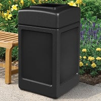 Commercial Zone 732101 PolyTec 42 Gallon Square Black Waste Container