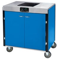 Lakeside 2065BL Creation Express Mobile Cooking Cart with 1 Induction Burner, 1 Filtration Unit, and Royal Blue Laminate Finish - 22 inch x 34 inch x 40 1/2 inch
