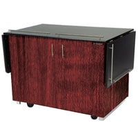 Lakeside 6850RM Mobile Breakout Dining Station with Red Maple Laminate Finish - 83 1/2 inch x 30 1/2 inch