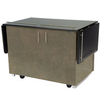 Lakeside 6850BS Mobile Breakout Dining Station with Beige Suede Laminate Finish - 83 1/2 inch x 30 1/2 inch