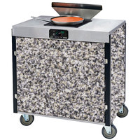 Lakeside 2065GS Creation Express Mobile Cooking Cart with 1 Induction Burner, 1 Filtration Unit, and Gray Sand Laminate Finish - 22 inch x 34 inch x 40 1/2 inch