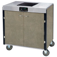 Lakeside 2065BS Creation Express Mobile Cooking Cart with 1 Induction Burner, 1 Filtration Unit, and Beige Suede Laminate Finish - 22 inch x 34 inch x 40 1/2 inch