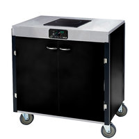 Lakeside 2065B Creation Express Mobile Cooking Cart with 1 Induction Burner, 1 Filtration Unit, and Black Laminate Finish - 22 inch x 34 inch x 40 1/2 inch