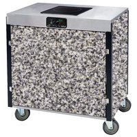 Lakeside 2060GS Creation Express Mobile Cooking Cart with 1 Induction Burner, No Exhaust Filtration, and Gray Sand Laminate Finish - 22 inch x 34 inch x 35 1/2 inch