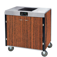 Lakeside 2060VC Creation Express Mobile Cooking Cart with 1 Induction Burner, No Exhaust Filtration, and Victorian Cherry Laminate Finish - 22 inch x 34 inch x 35 1/2 inch