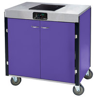Lakeside 2060P Creation Express Mobile Cooking Cart with 1 Induction Burner, No Exhaust Filtration, and Purple Laminate Finish - 22 inch x 34 inch x 35 1/2 inch