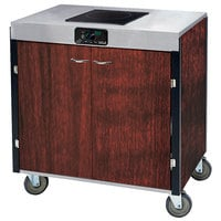 Lakeside 2060RM Creation Express Mobile Cooking Cart with 1 Induction Burner, No Exhaust Filtration, and Red Maple Laminate Finish - 22 inch x 34 inch x 35 1/2 inch