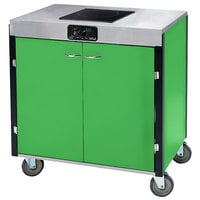 Lakeside 2060G Creation Express Mobile Cooking Cart with 1 Induction Burner, No Exhaust Filtration, and Green Laminate Finish - 22 inch x 34 inch x 35 1/2 inch
