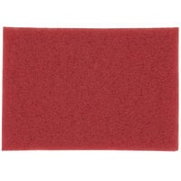 3M 5100 14 inch x 20 inch Red Buffing Pad - 10/Case
