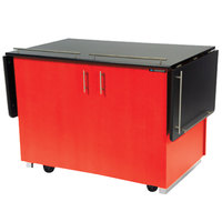 Lakeside 6850RD Mobile Breakout Dining Station with Red Laminate Finish - 83 1/2 inch x 30 1/2 inch