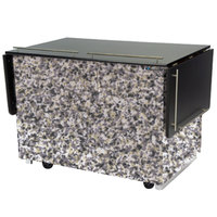 Lakeside 6850GS Mobile Breakout Dining Station with Gray Sand Laminate Finish - 83 1/2 inch x 30 1/2 inch