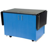 Lakeside 6850BL Mobile Breakout Dining Station with Royal Blue Laminate Finish - 83 1/2 inch x 30 1/2 inch