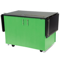 Lakeside 6850G Mobile Breakout Dining Station with Green Laminate Finish - 83 1/2 inch x 30 1/2 inch