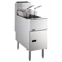Pitco® SG14RS Solstice Natural Gas 40-50 lb. Floor Fryer - 122,000 BTU