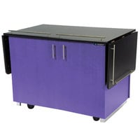 Lakeside 6850P Mobile Breakout Dining Station with Purple Laminate Finish - 83 1/2 inch x 30 1/2 inch