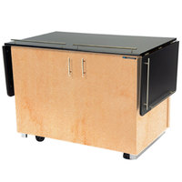 Lakeside 6850HRM Mobile Breakout Dining Station with Hard Rock Maple Laminate Finish - 83 1/2 inch x 30 1/2 inch