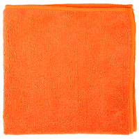 Knuckle Buster MFMP16OR 16 inch x 16 inch Orange Microfiber Cleaning Cloth - 12/Pack