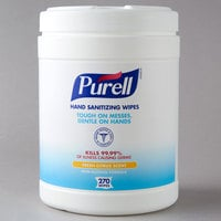 Purell® 9113-06 270 Count Hand Sanitizing Wipes - 6/Case