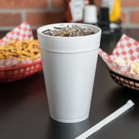 Dart 32TJ32 32 oz. Customizable White Foam Cup - 500/Case